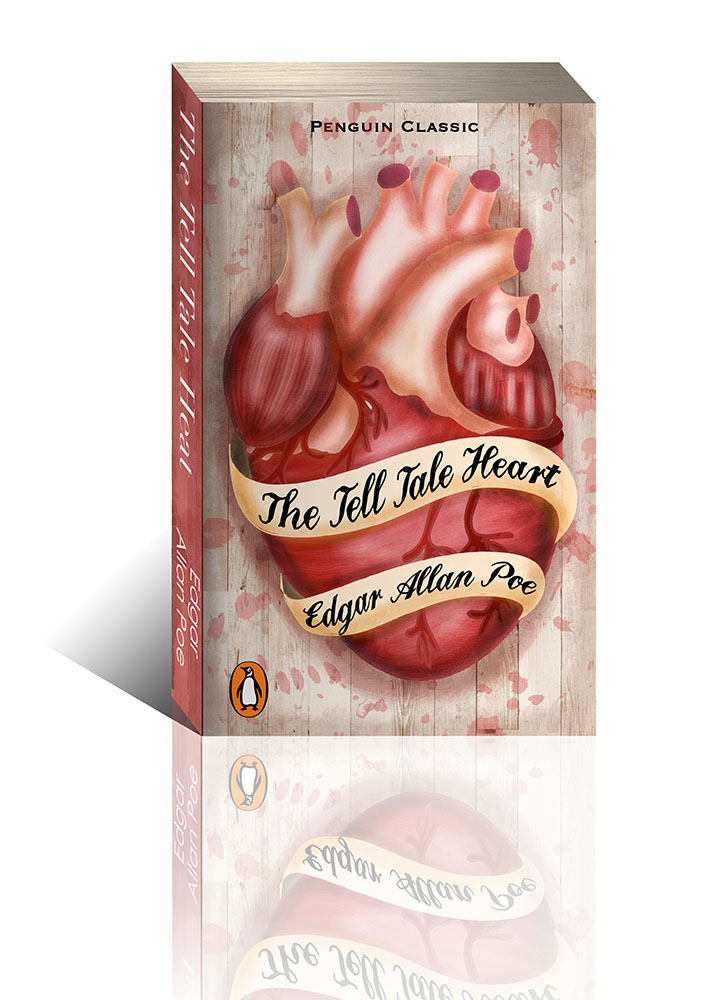 Tell Tale Heart Book Cover Design Illustration