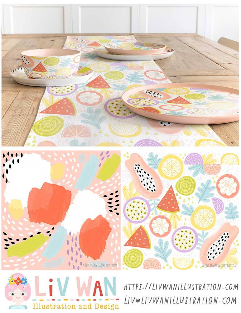 fruit home decor patterns