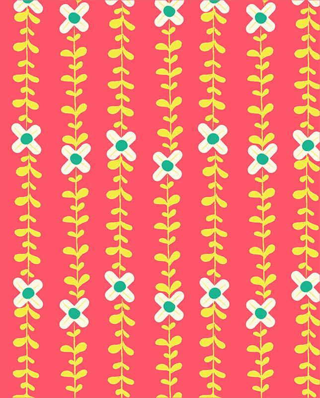 bohemian flower pattern