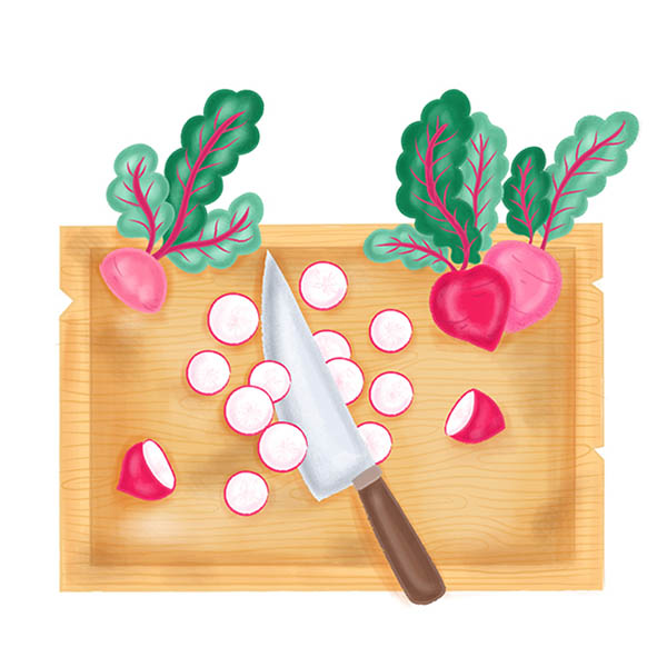 chopping board illustration