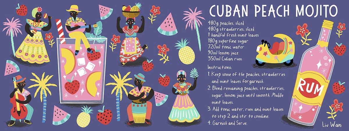 Cuban Mojito Design Illustrations