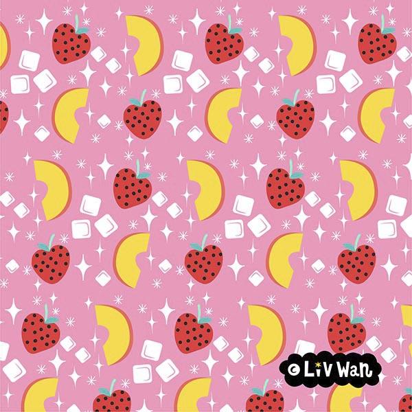peach and strawberry diamond pattern