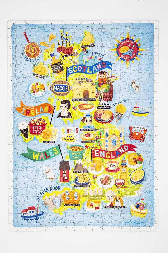 UK map jigsaw puzzle
