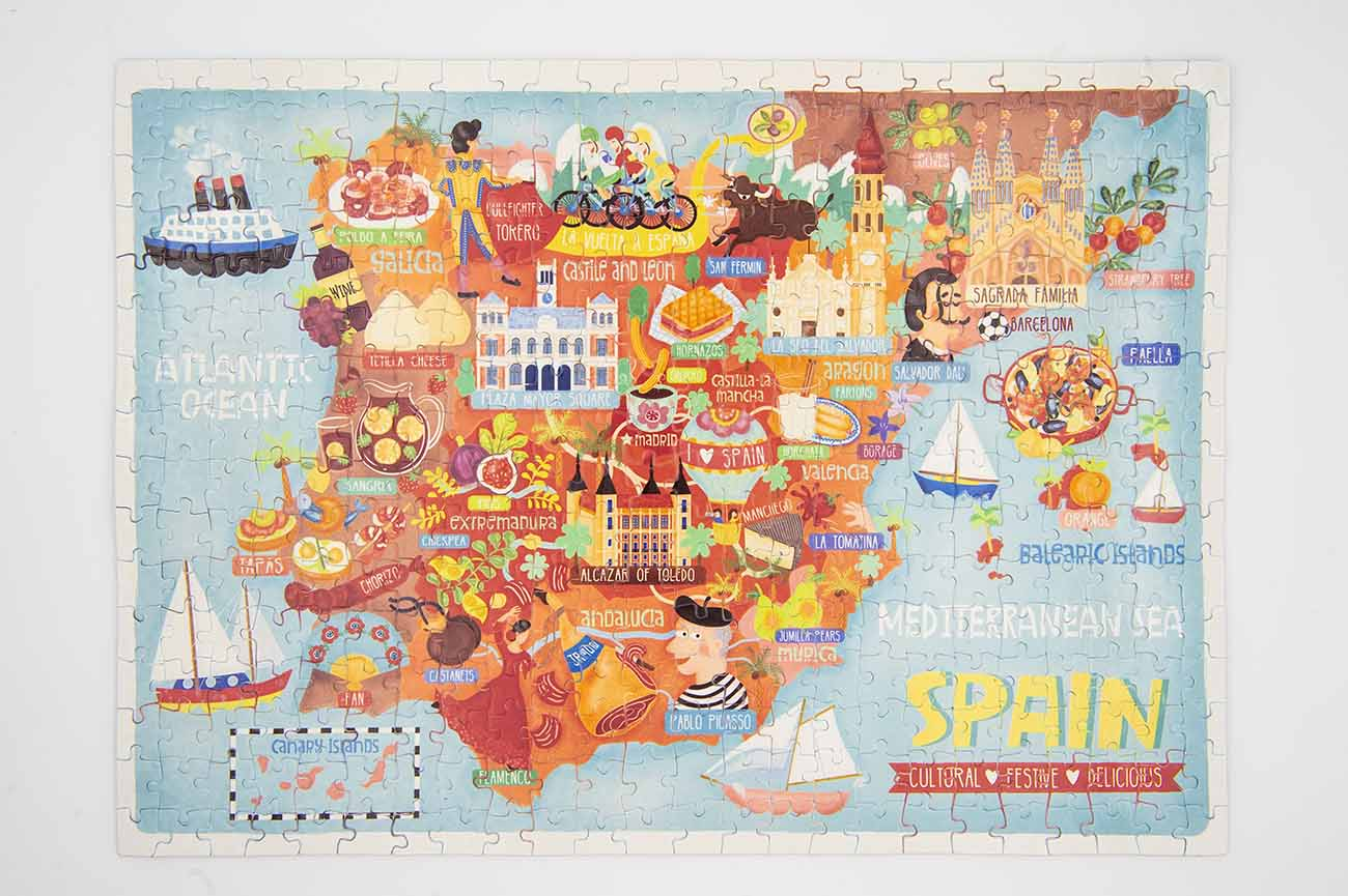 spain map jigsaw puzzle