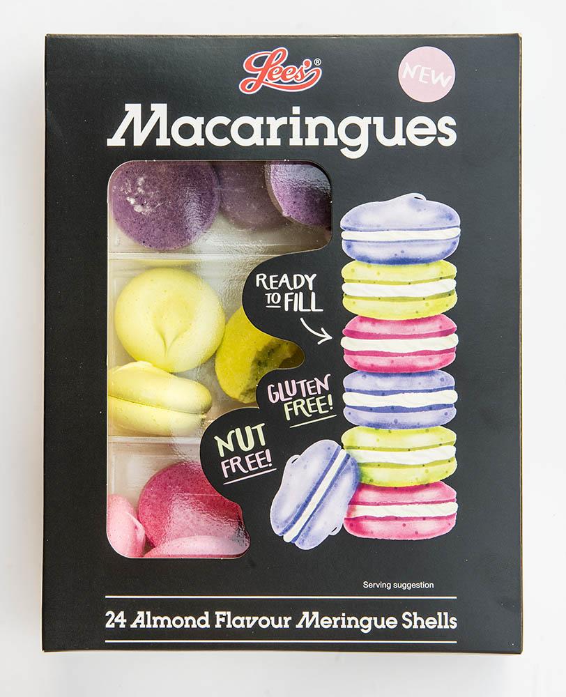 lees macaringues packaging illustration