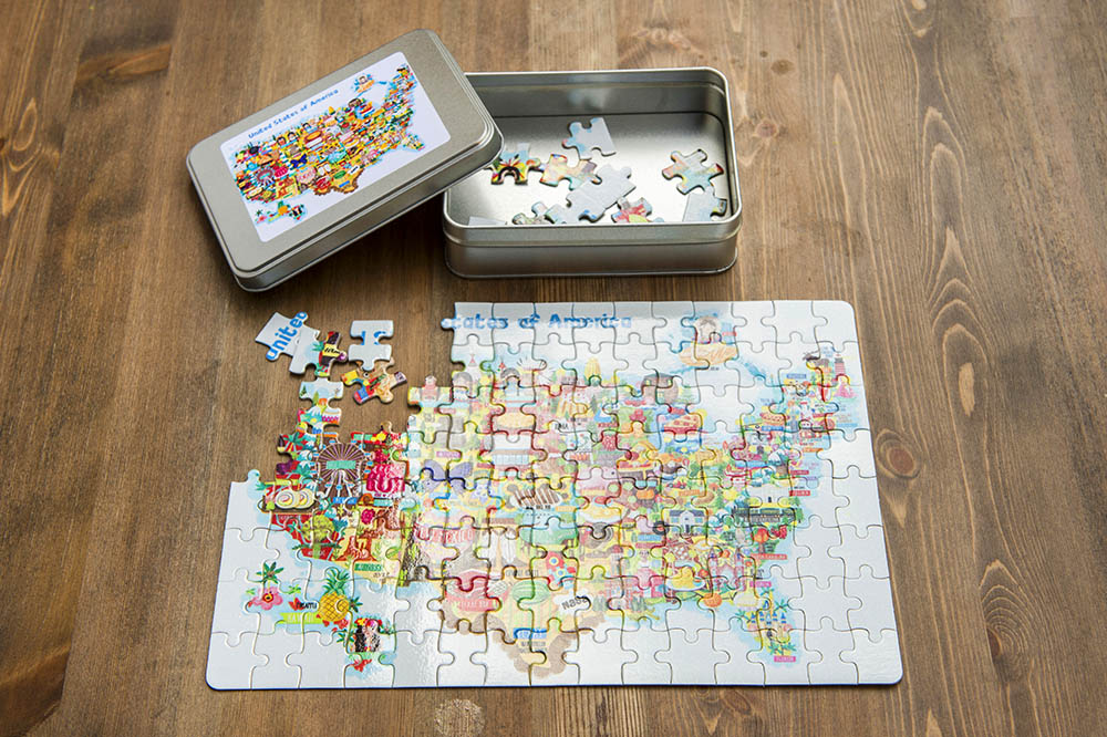 usa map jigsaw