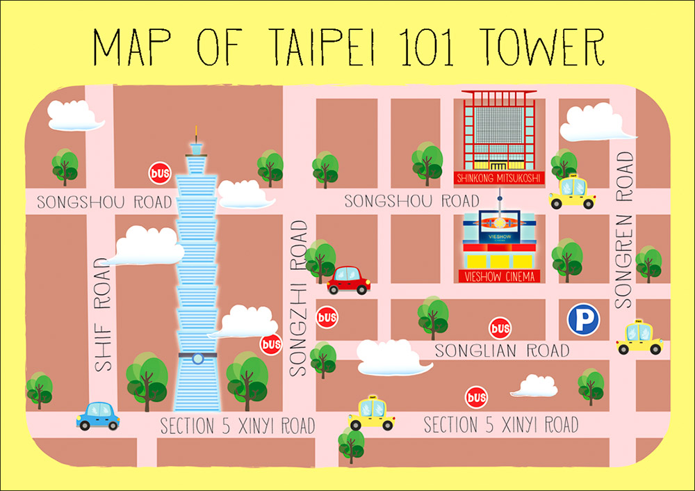 taipei attractions map visit a city