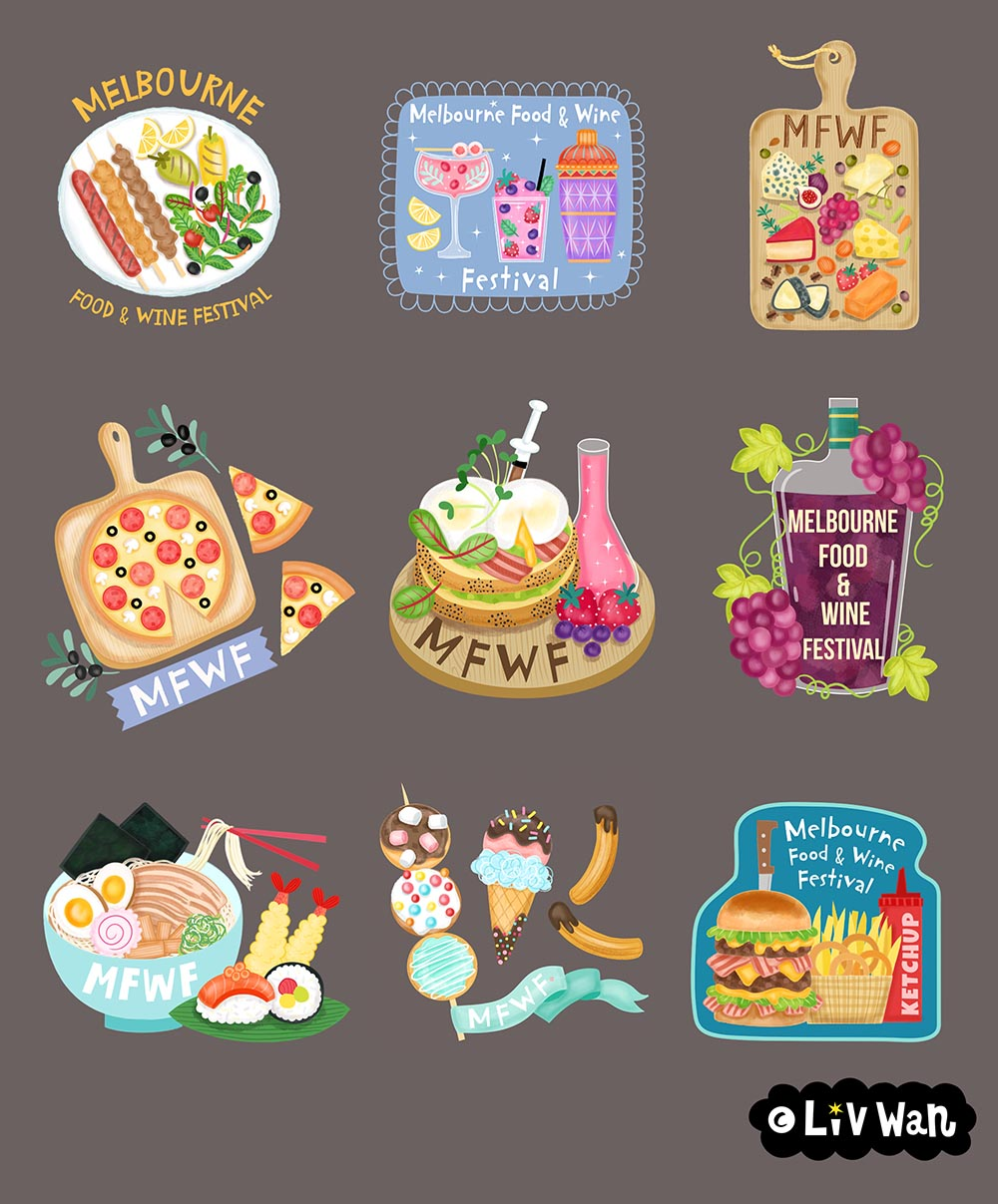 melbourne food and wine festival snapchat stickers