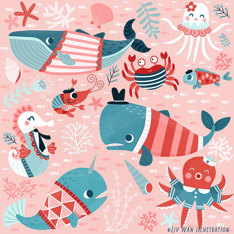 ocean child fabric pattern