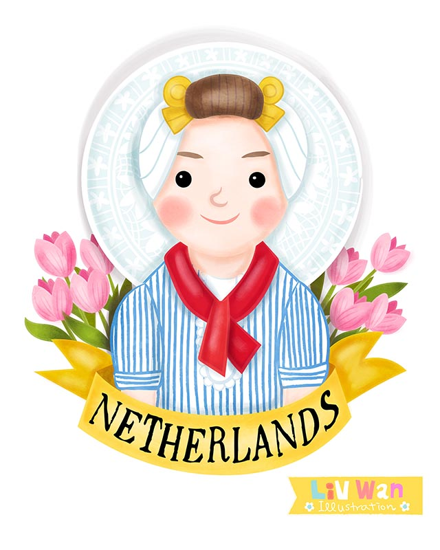 dutch girl illustration