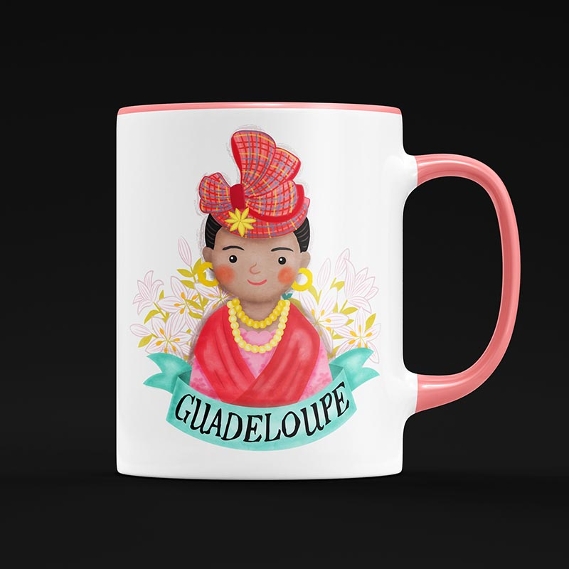 guadeloupe mug illustration