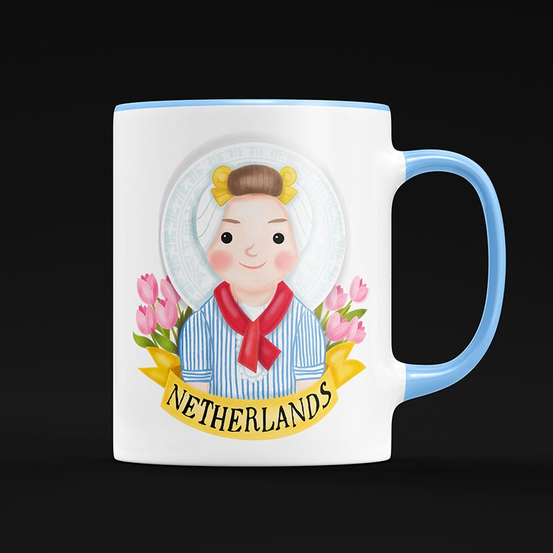 netherlands mug illustration
