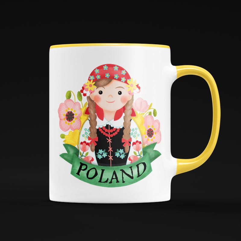 poland mug illustration