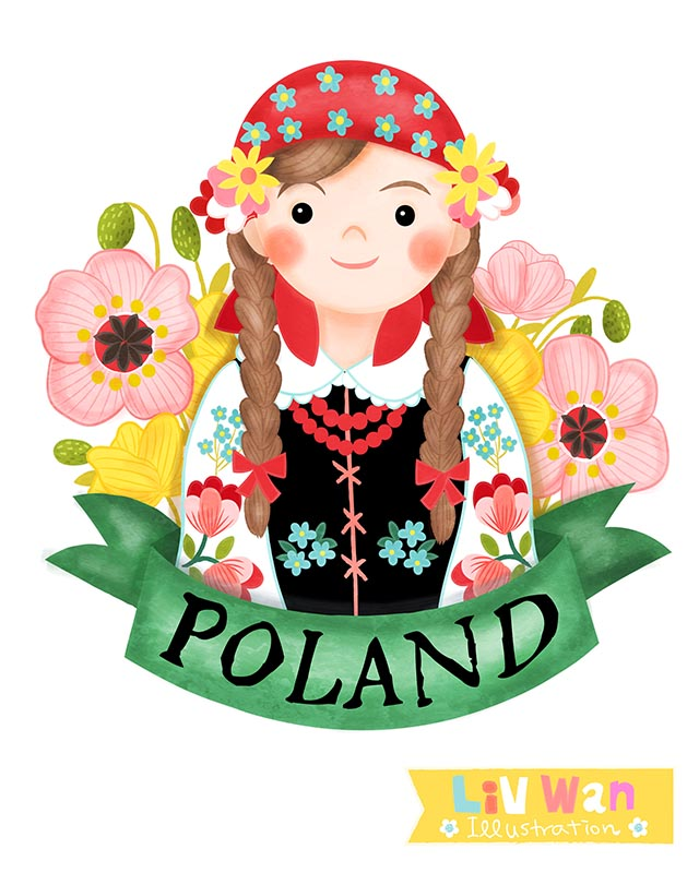 polish girl illustration