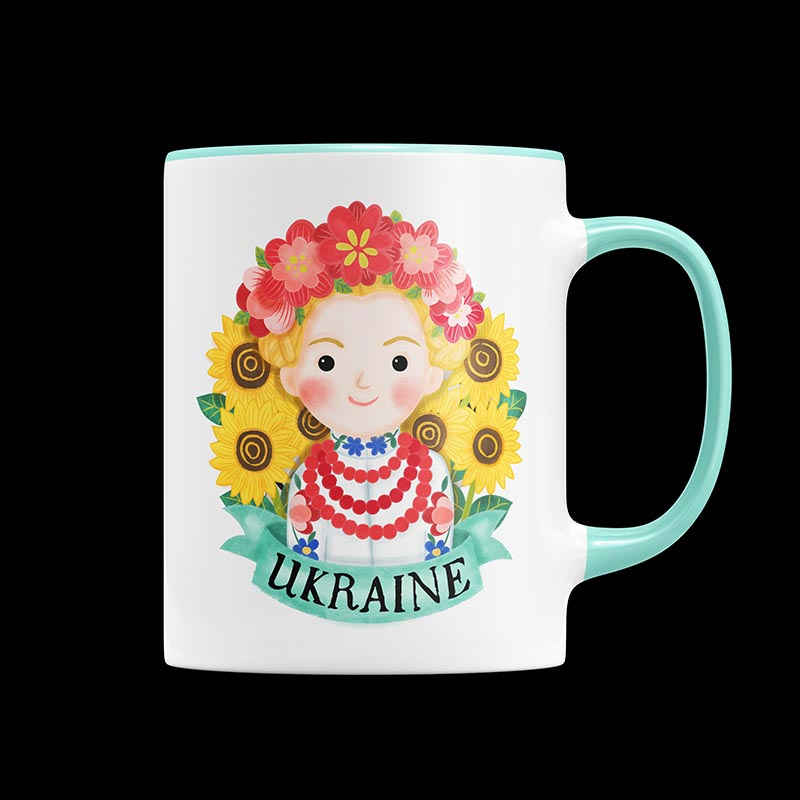 ukraine mug illustration