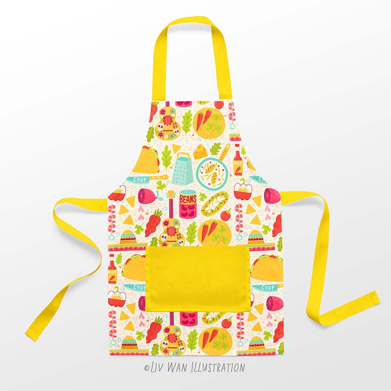 Tacos Burritos childrens apron design