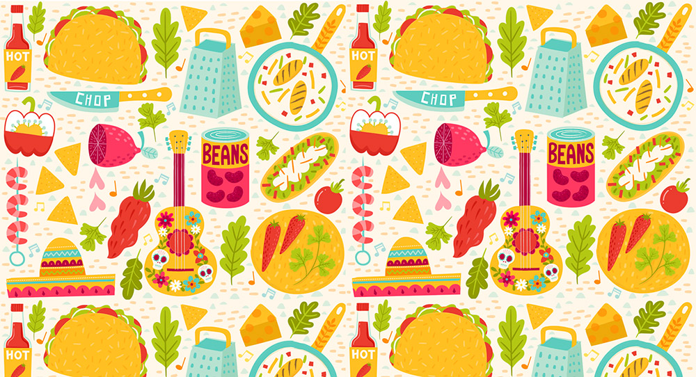 i'm a taco kind of gal pattern
