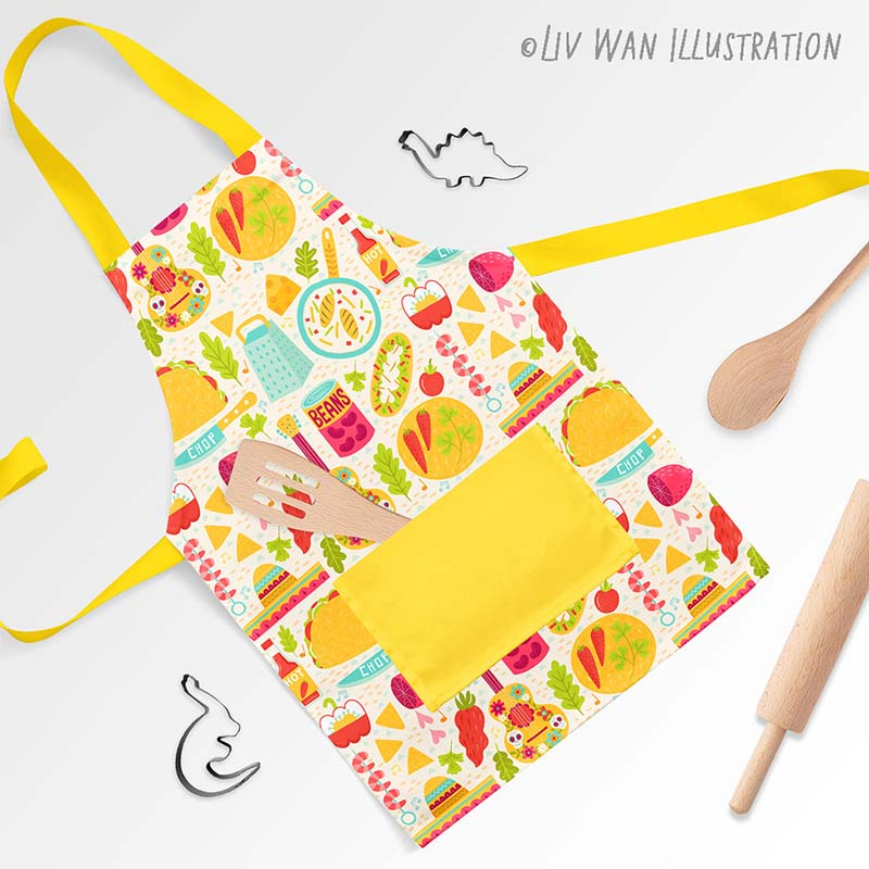 tacos burritos apron kitchenware