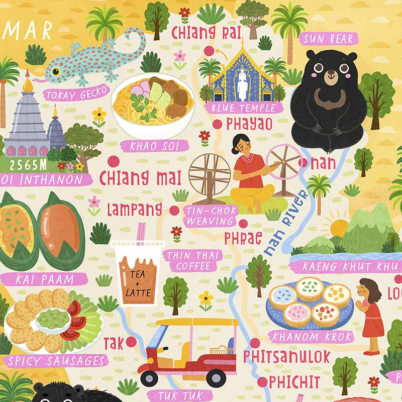 thailand map detail