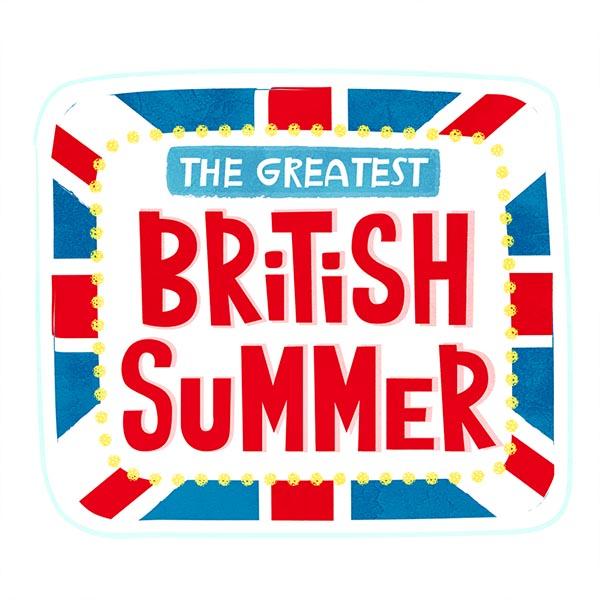 great british summer sticker set