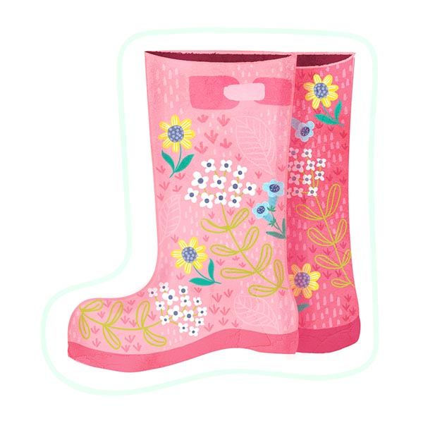 wellington boots sticker