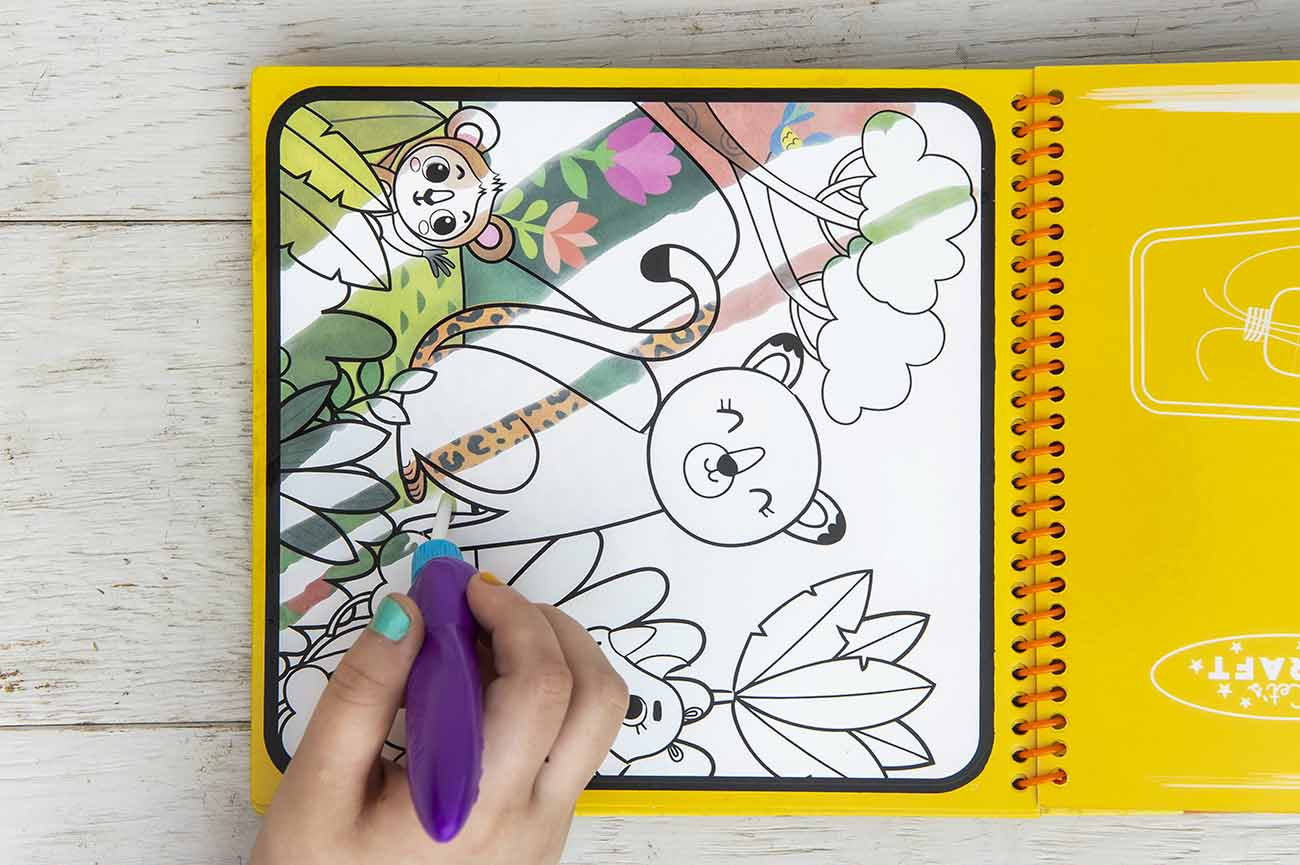 water reveal colouring book