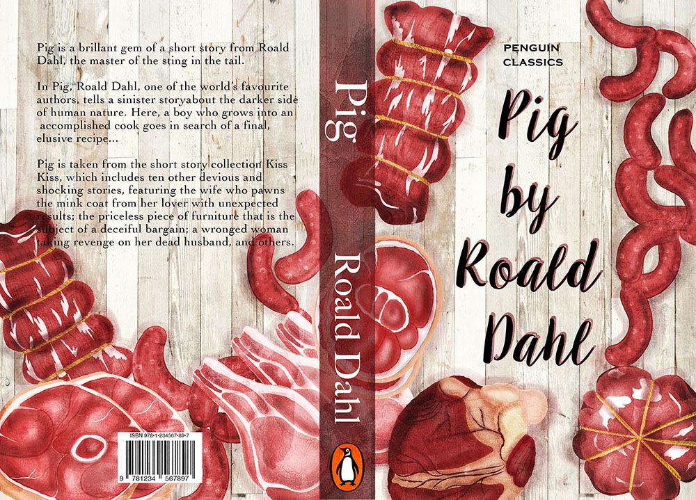 Roald Dahl Pig Book Cover Illustration