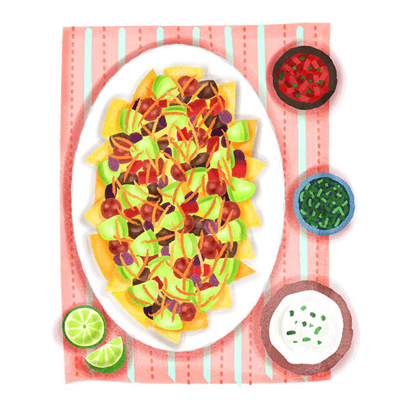 Nachos Food Illustration