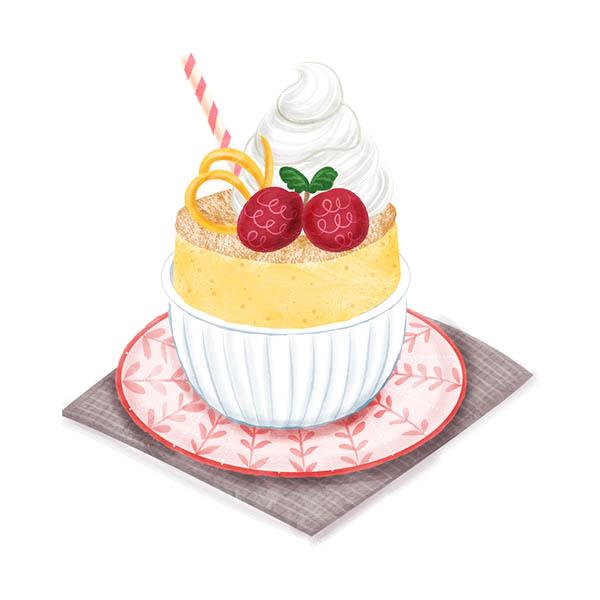 lemon souffle illustration