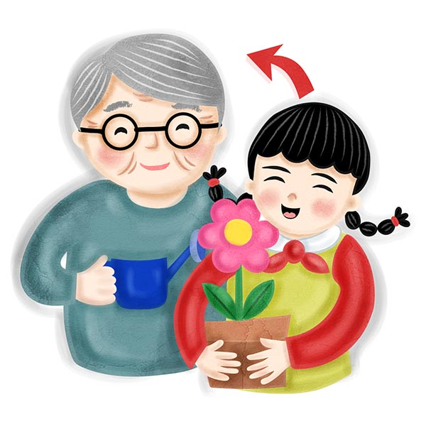 family member phonic illustration