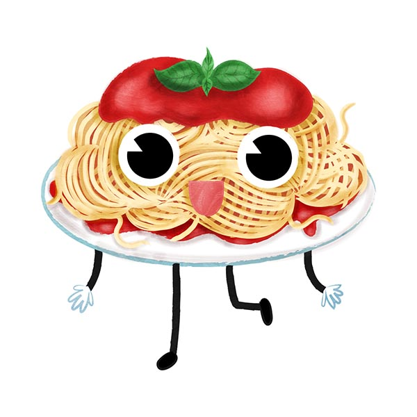 Food Character Phonic Illustrations