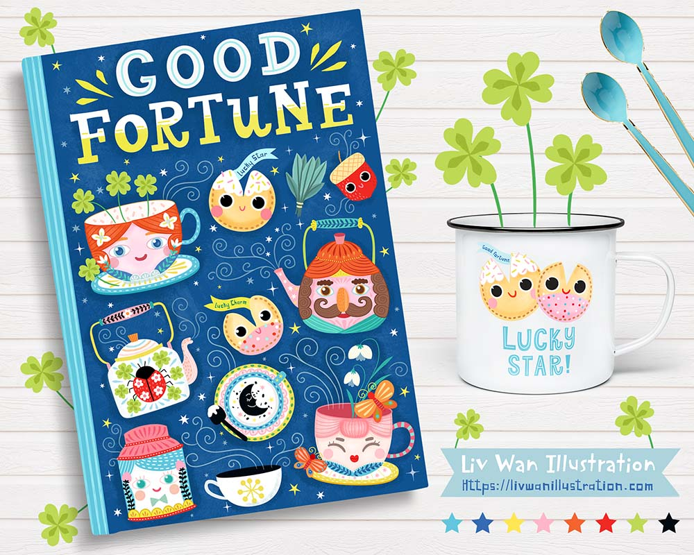 good fortune journal and lucky star mug