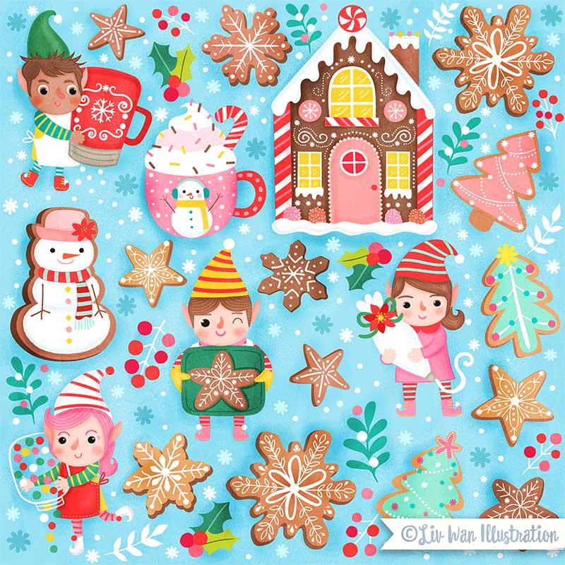 christmas cookies illustration