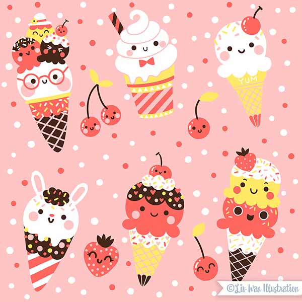 ice cream babalu pattern