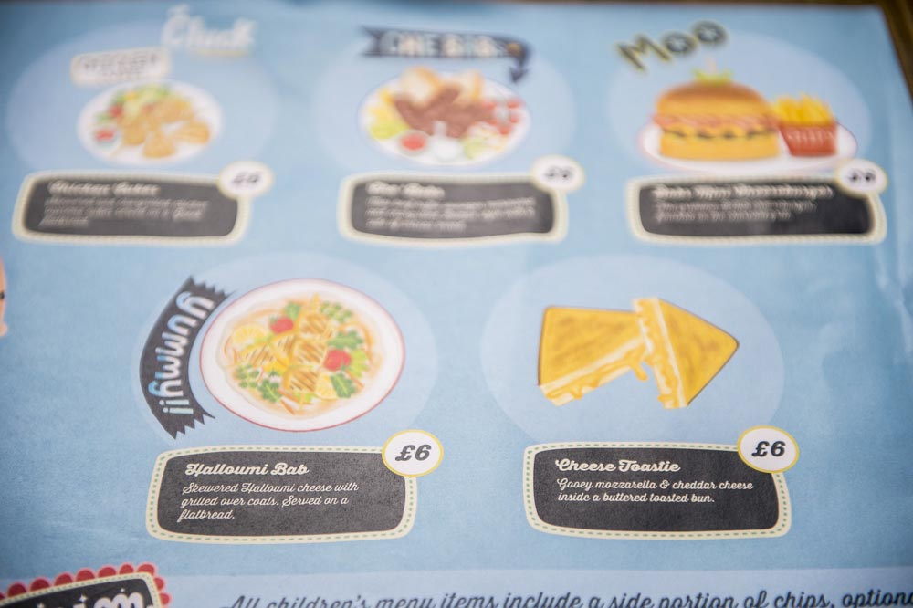 babs glasgow childrens illustrated menu