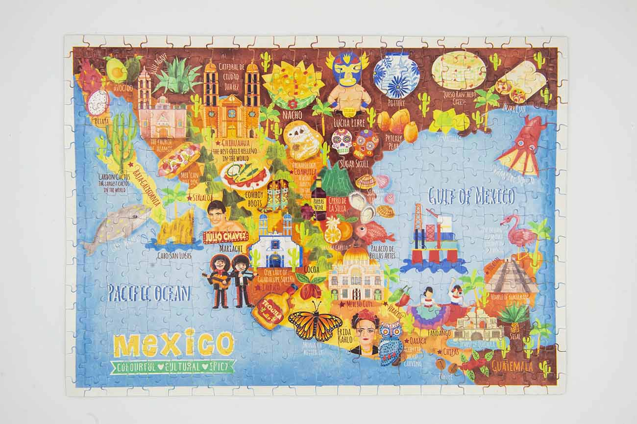 mexico map jigsaw puzzle