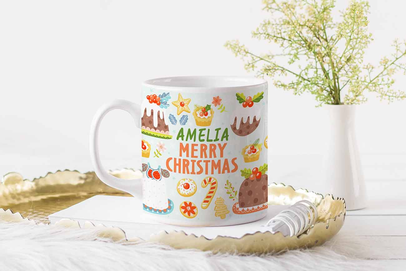 sweet xmas mug design