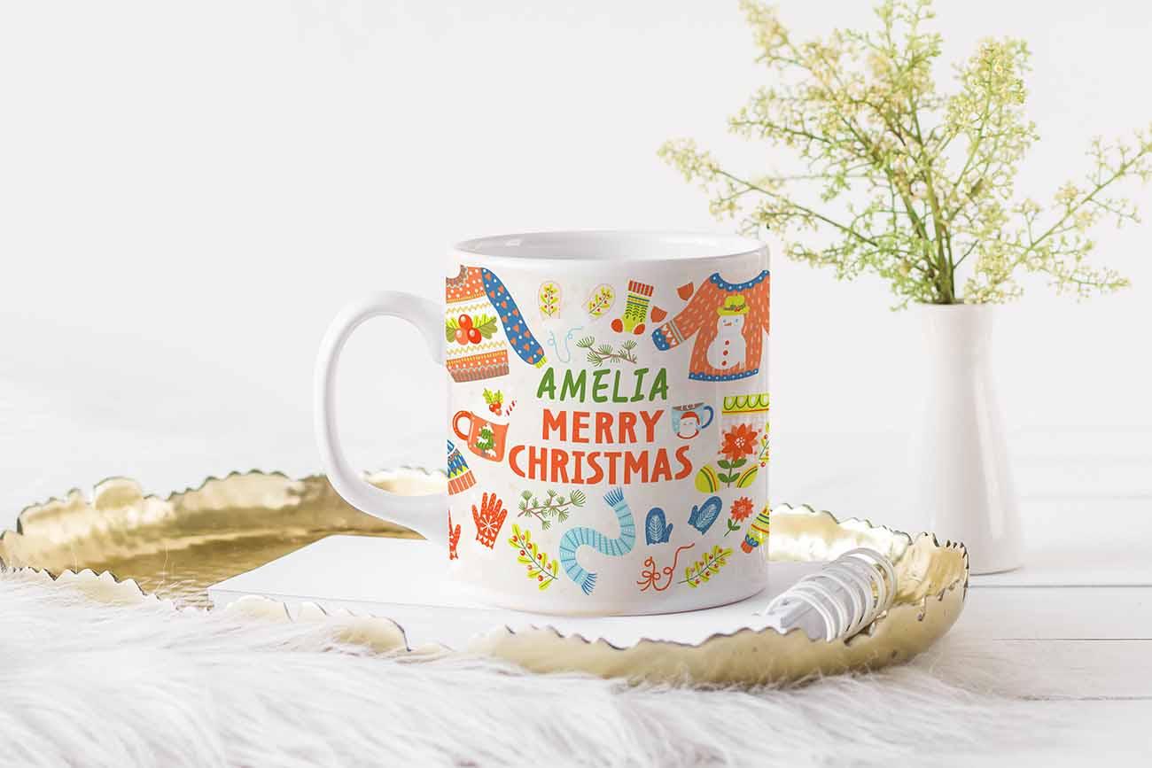 warmest wishes mug design