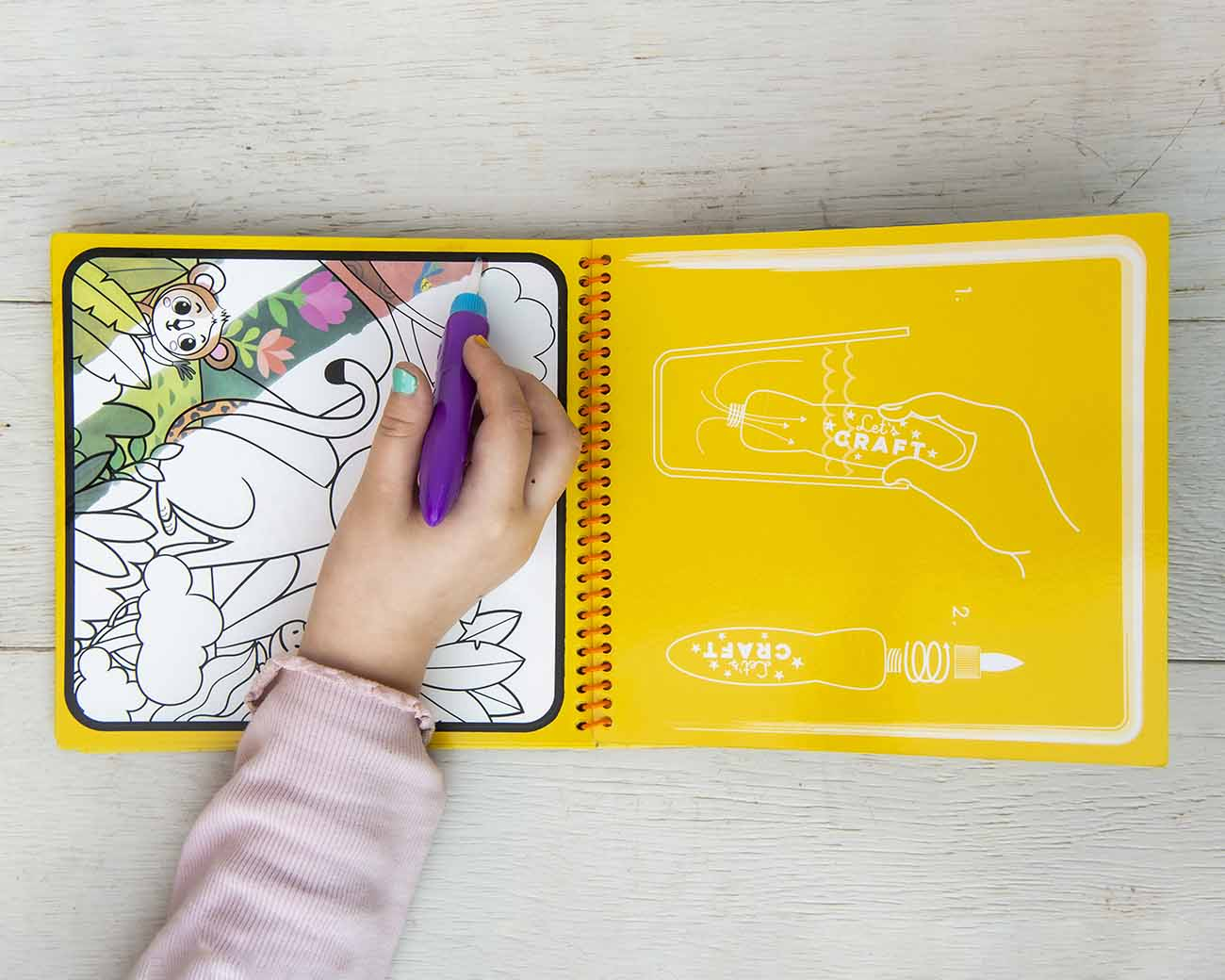 lets craft water reveal colouring books