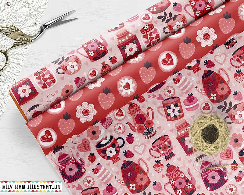 valentines day giftwrap