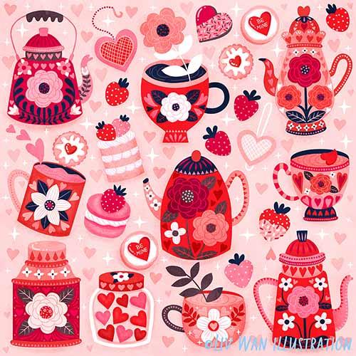 valentines day pattern