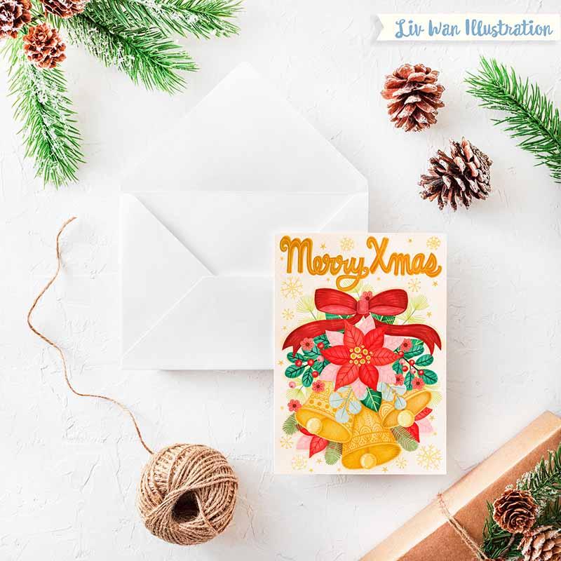 merry xmas christmas card