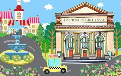 Andrew Carnegie Town Illustrations