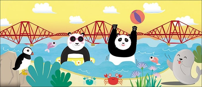 Edinburgh Panda Book Illustrations