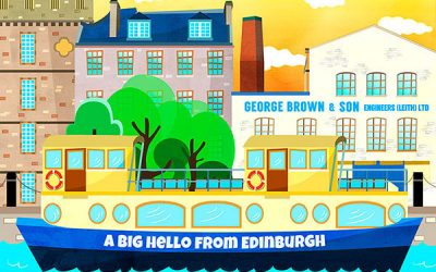 Edinburgh Illustration Postcards