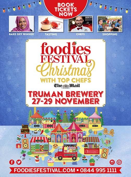 2015 Foodies Festival Christmas Illustrations