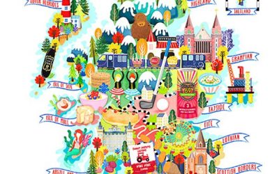 Scotland Food Map Animation