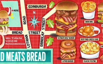 Bread Meats Bread Edinburgh Illustrated Restaurant Guide