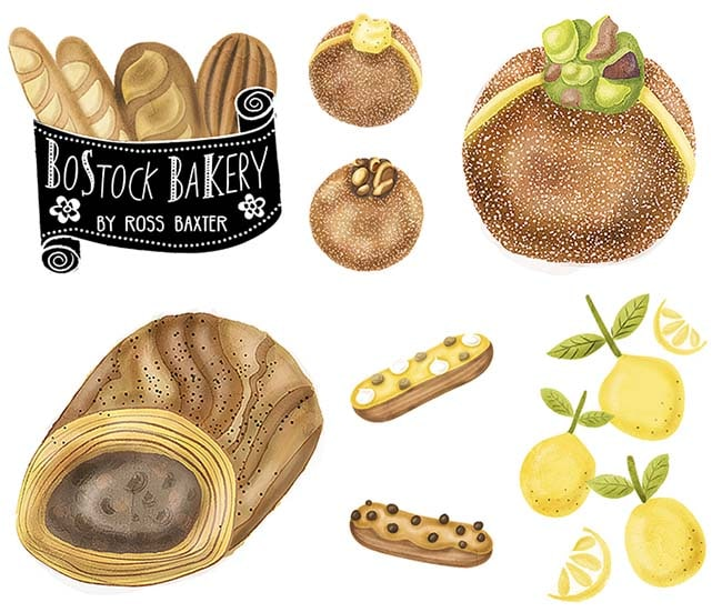 Bostock Bakery Edinburgh Illustrated Food Guide