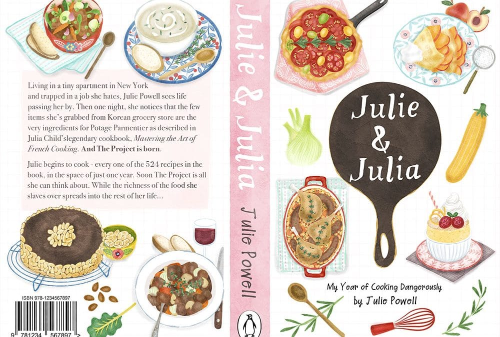 Julie and Julia Book Cover Design and Illustrations